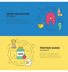 Sport Nutrition Banner vector image