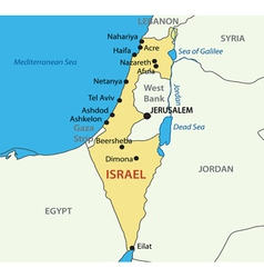 State of Israel - map vector
