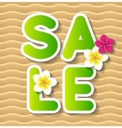 Summer sale concept background vector