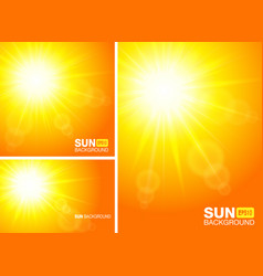 summer template banners sun rays backgrounds vector image