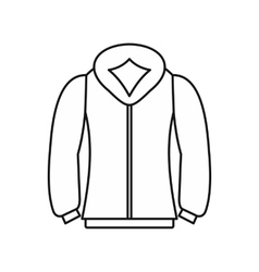 Sweatshirt icon in outline style vector image vector image