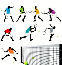 tennis set03 vector image