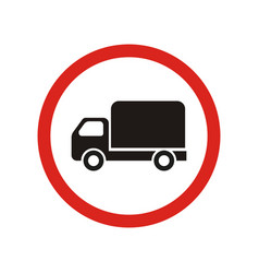 truck traffic is prohibited sign vector image