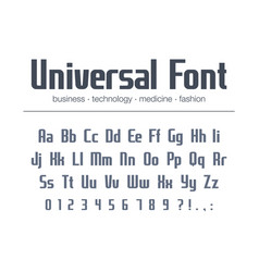 universal font for business headline text vector image