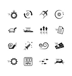 velocity speed and performance icons vector image
