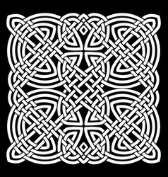 White and black celtic mandala background vector