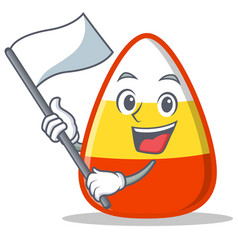 With flag candy corn character cartoon vector