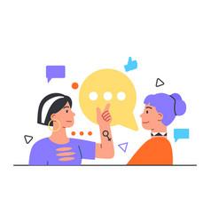 woman say her friend new gossip vector image