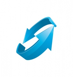 3d blue arrows vector image