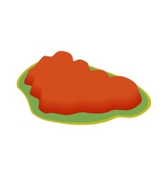 Ayers Rock Australia icon isometric 3d style vector image