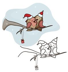 bird christmas vector image