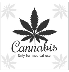 Marijuana logo - cannabis for medical use vector image