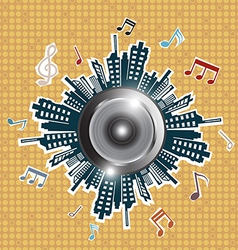 music in the city vector image vector image