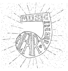Music in your heart Hand drawn lettering vector image