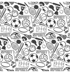 Sport pattern with vintage badges and labels vector image vector image