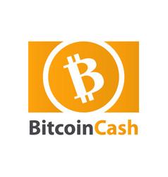 Bitcoin cash crypto currency coin icon vector