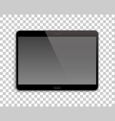 gadget mockup transparent background horizontal vector image vector image