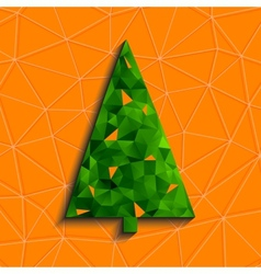 Geometric Christmas Tree vector image vector image
