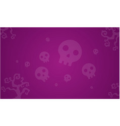 halloween skull background style collection vector image