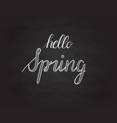 hello spring grunge vintage lettering on a vector image vector image