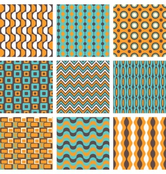 retro patterns set vector image vector image