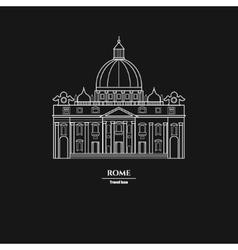 Rome Landmark Outline 1 vector image