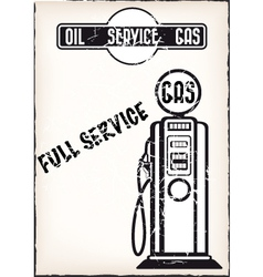 service station poster vector image vector image