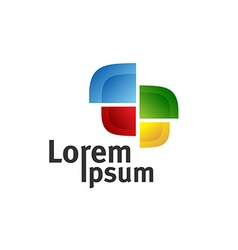 TV color logo vector image