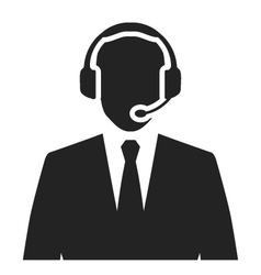 call center operator with headset vector image vector image