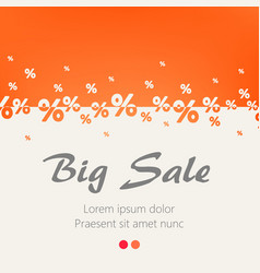 creative abstract orange percent background big vector image