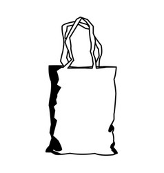 disposable plastic bag package with handles empty vector image vector image