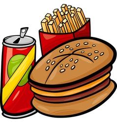 fast food cartoon clip art vector image