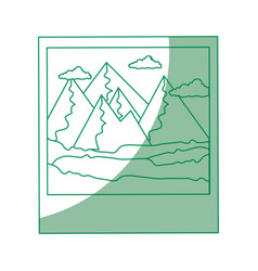 isolated mountains photography vector image vector image