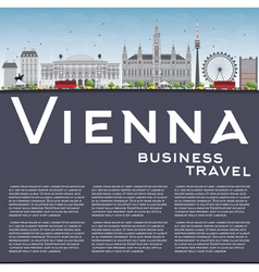 Vienna Skyline with Gray Buildings vector image vector image