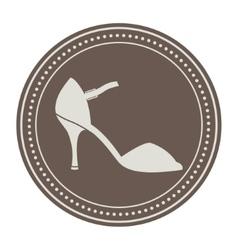 Vintage shoe label vector image
