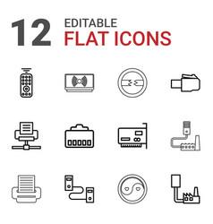 12 universal icons vector