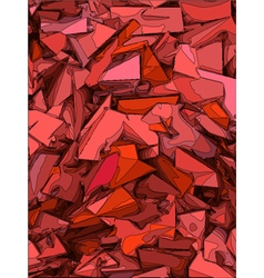 Abstract chaotic background in pink and red vector