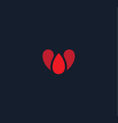 Abstract heart style logo concept red vector