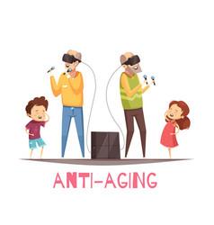 Anti aging design concept vector