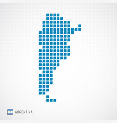 argentina map and flag icon vector image
