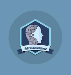 artificial intelligence design vector image