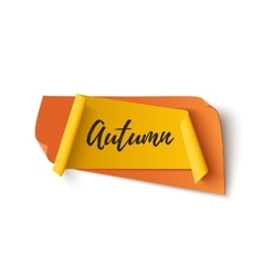 Autumn abstract paper banner vector