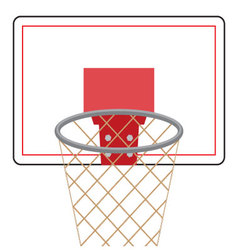 Basketball board and ring vector image