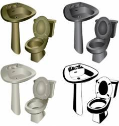 Bathroom hardware vector