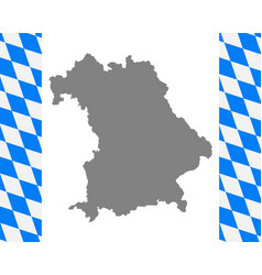 Bavarian flag and map vector