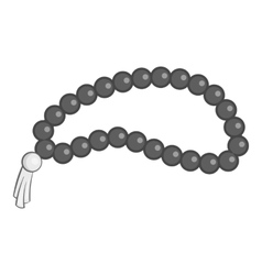 Beads icon gray monochrome style vector image