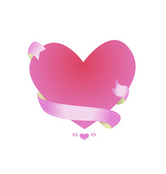 beautiful pink frame in the shape of a heart vector image