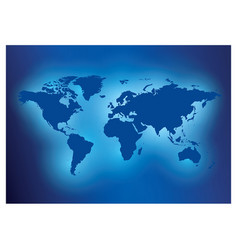 Blue background with map of the world - travel vector