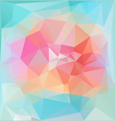 bright lowpolygonal vibrant pattern vector image
