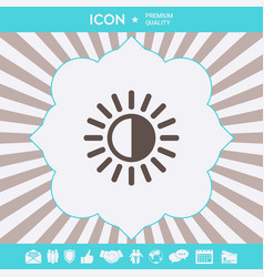 brightness symbol icon graphic elements for your vector image